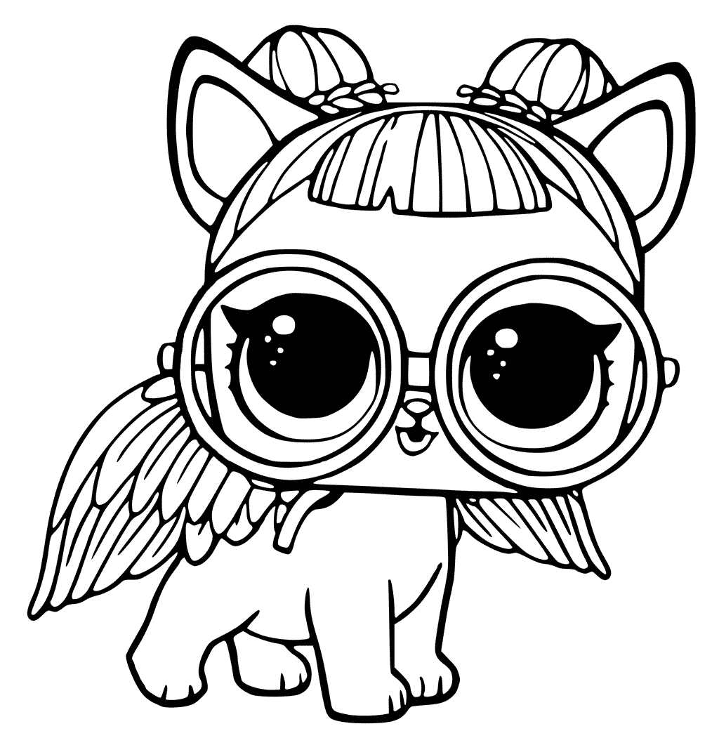 lol doll pet sugar the puppy - coloring pages for you