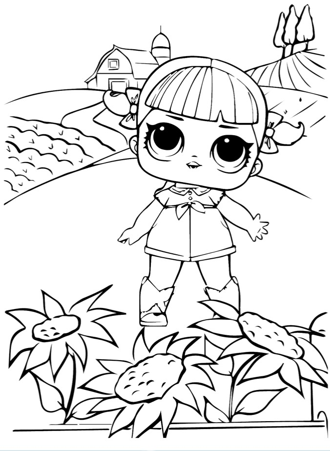 Doll LOL Confetti dancing Queen - Coloring pages for you