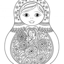 Matryoshka with rose