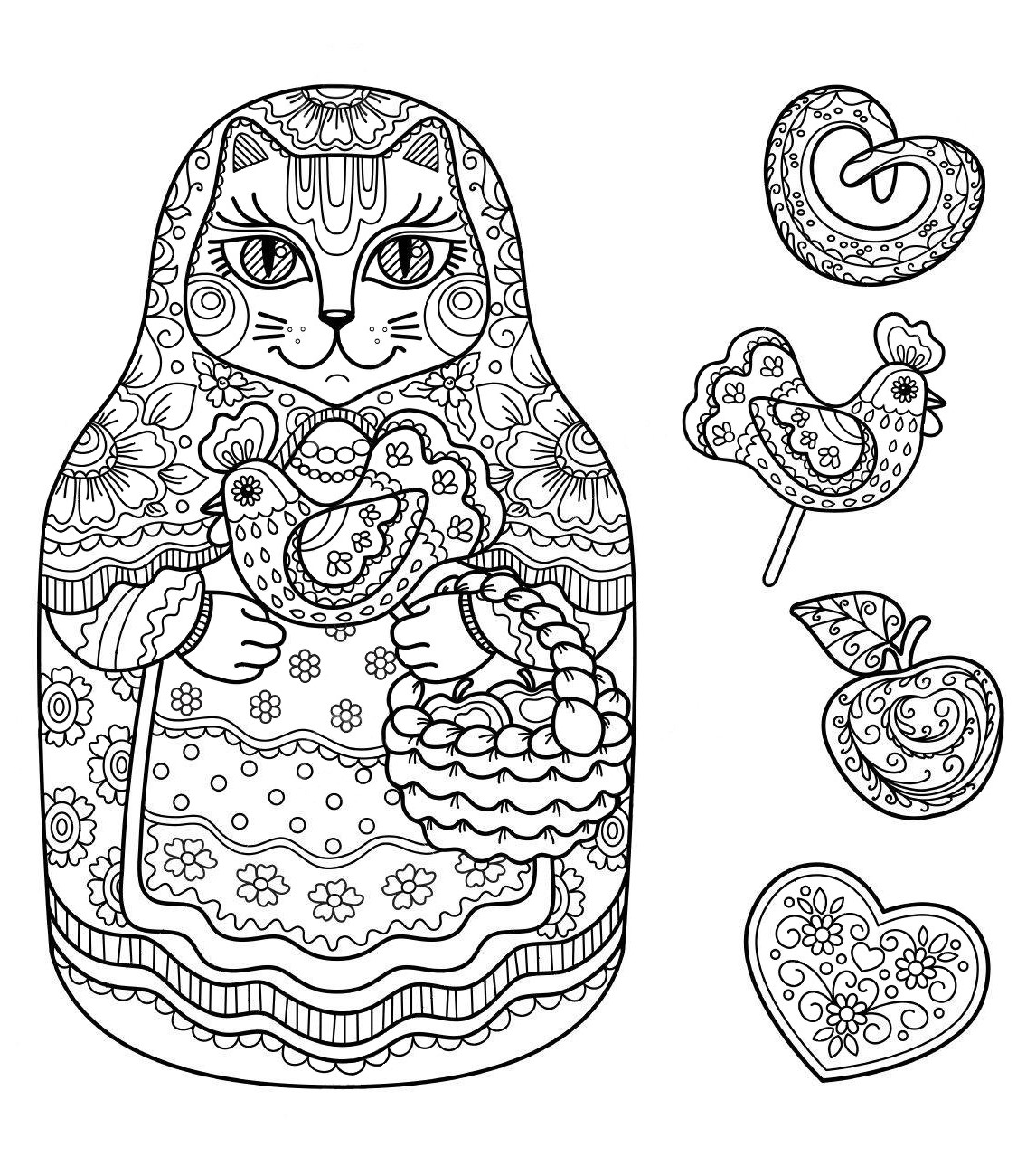 Matryoshka Cat sweets
