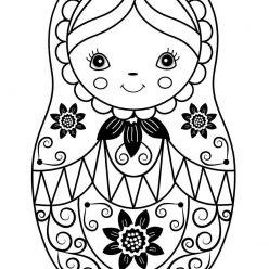 Beautiful matryoshka