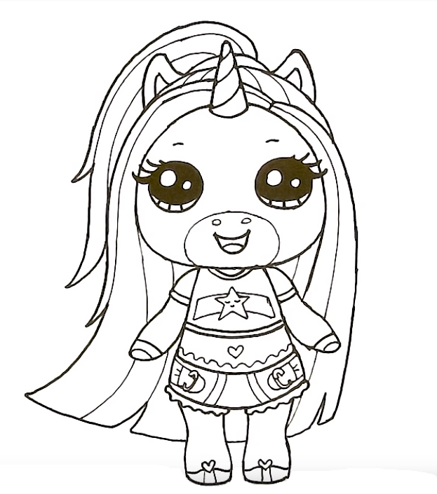 One unicorn's surprise Pepsi - Coloring pages for you
