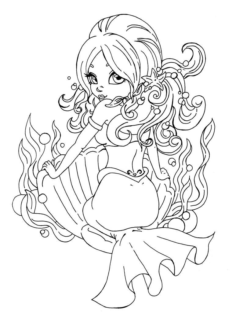 Mermaid in a shell
