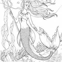 Mermaid Queen with a Trident