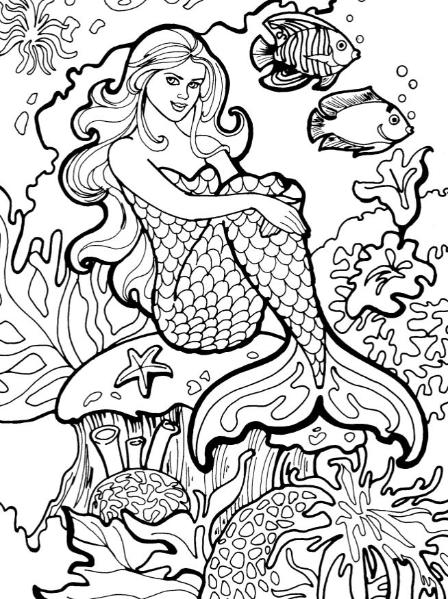 The mermaid on coral