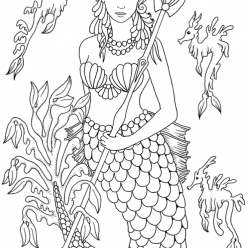 The mermaid Princess with the Trident