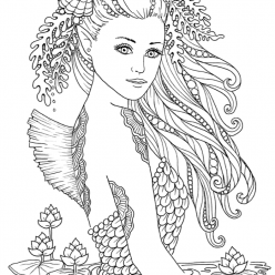 Mermaid with beautiful hair