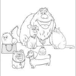All the characters from the cartoon the secret life of Pets