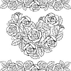 Heart and beautiful roses