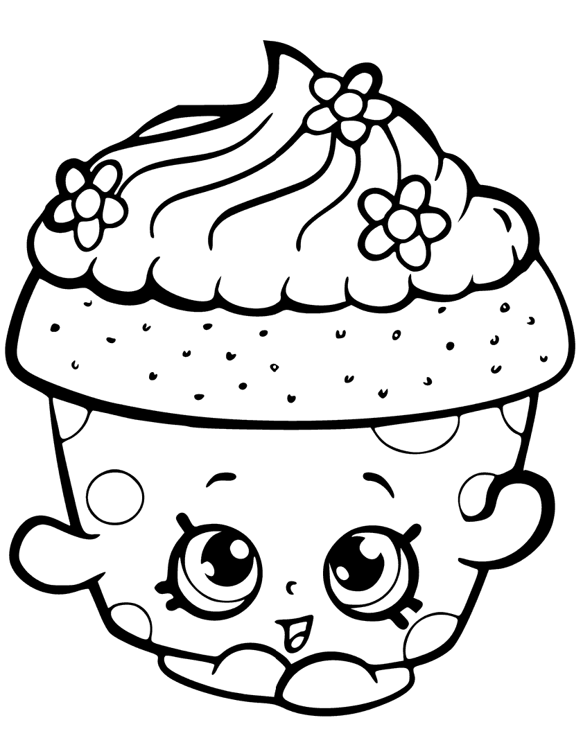 Shopkins Cupcake - Shopkins - Coloring pages for you