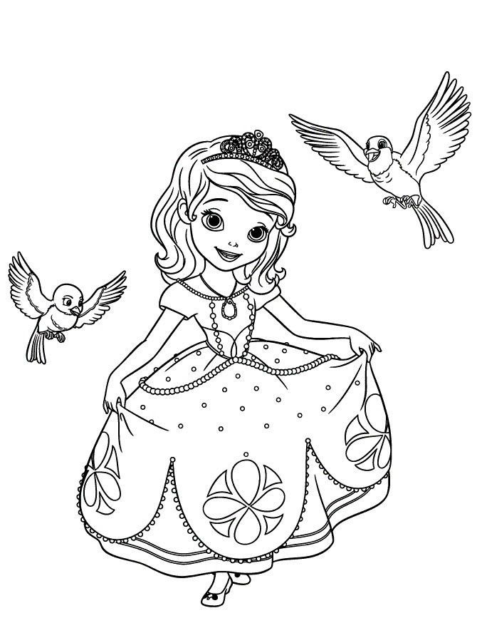 Princess Sofia with animals