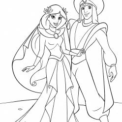 The wedding of Jasmine and Aladdin