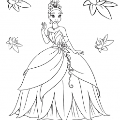 Tiana in ball gown