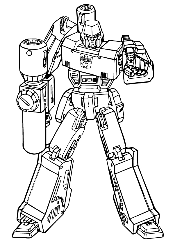 The transformer robot - Coloring pages for you