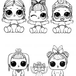 Dolls LOL, the three sisters and Pets