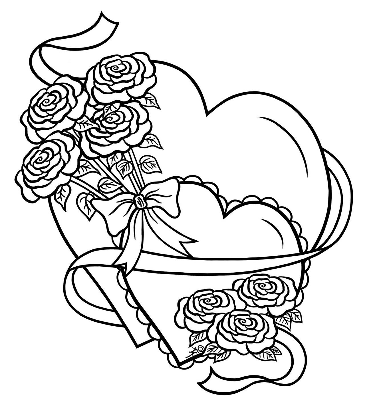 Valentine with flowers