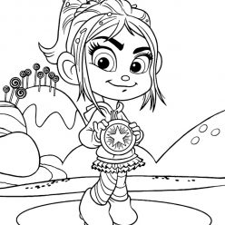 Vanellope with a medal