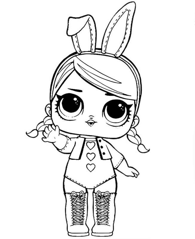 Doll Lol Bunny Coloring Pages For You