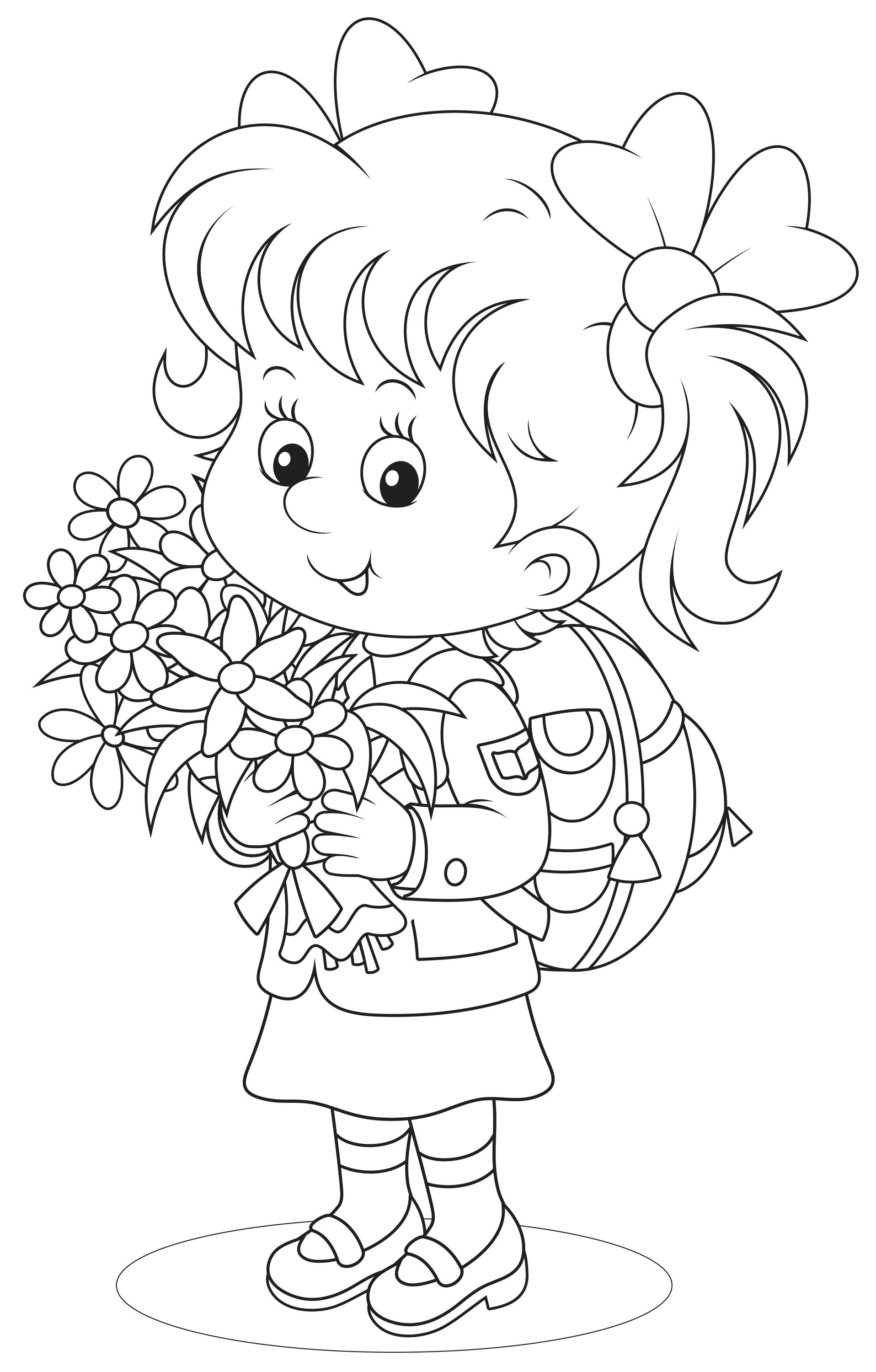 - The First Grader - Coloring Pages For You