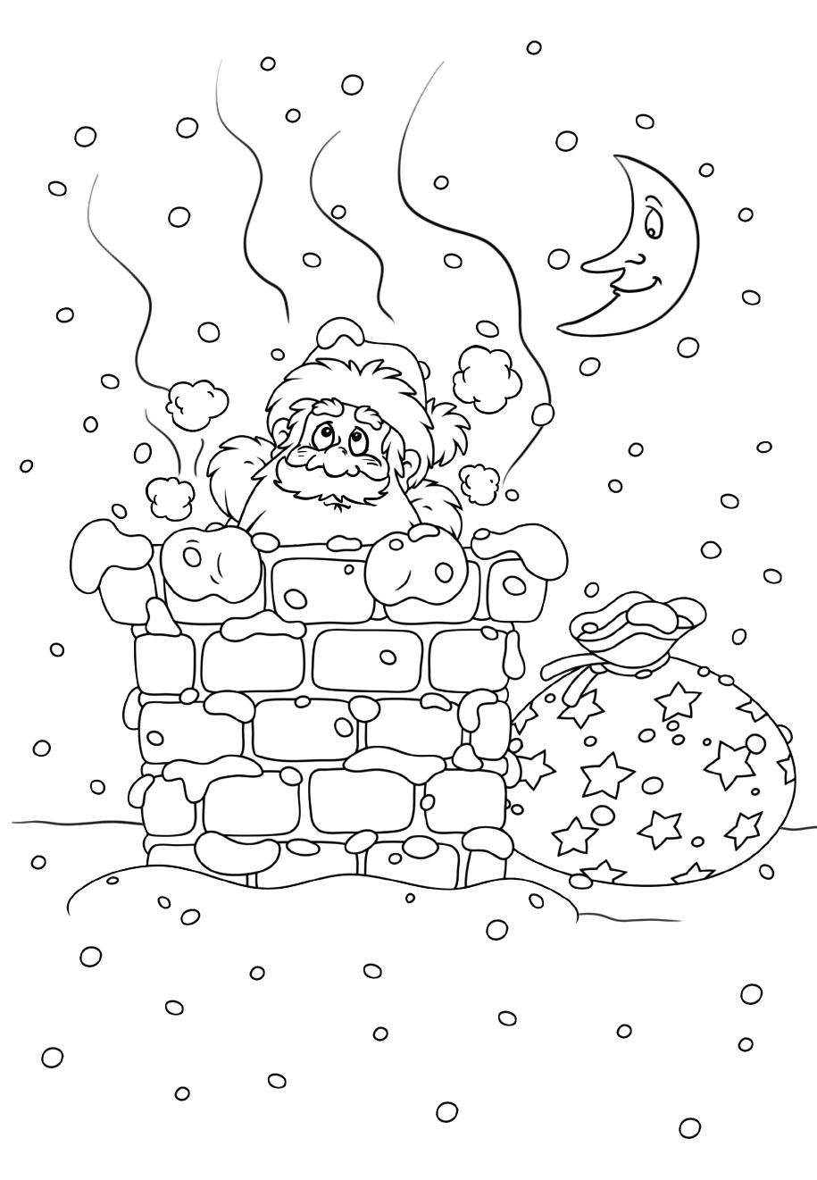 Santa in the chimney
